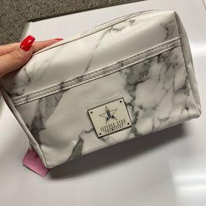 NWT Jeffree Star White Marble Makeup Bag